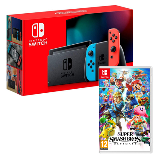 [INN0472] Combo Consola Nintendo Switch 2.0 Nueva Versión + Juego Super Smash Bross Ultimate Nintedo Switch